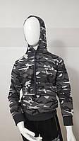 """Батник-кенгуру подростковый для мальчика, 13-16 лет """"Mir Wear"""", серый камуфляж"""