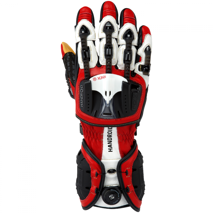 Мотоперчатки Knox Hand Armour Handroid Red S