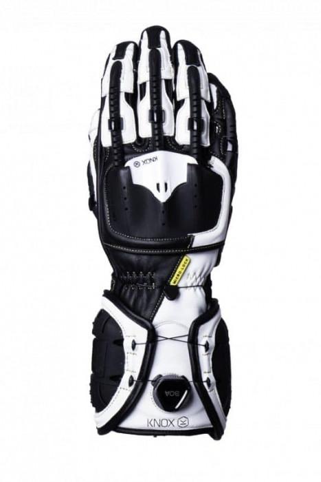 Мотоперчатки Knox Handroid Black/White XL