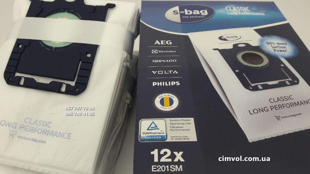Мішки 12 штук Electrolux E201SM s bag для пилососів