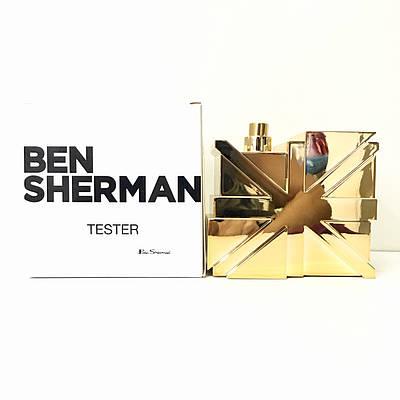 Чоловічі духи туалетна вода BEN SHERMAN Gold ТЕСТЕР 100ml, деревне пряний аромат ОРИГІНАЛ