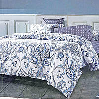 Комплект полуторного постельного белье белого цвета с богатым узором Viluta ранфорс