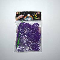 Резиночки для плетения Rainbow Loom 200шт. (фиолетовые)