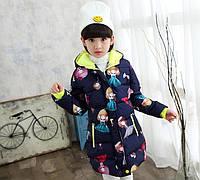 Пальто теплое для девочки  110,120
