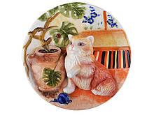 Тарелка декоративная Lefard Котик 20 см 59-120 настенная керамическая декор на стену кот кошка