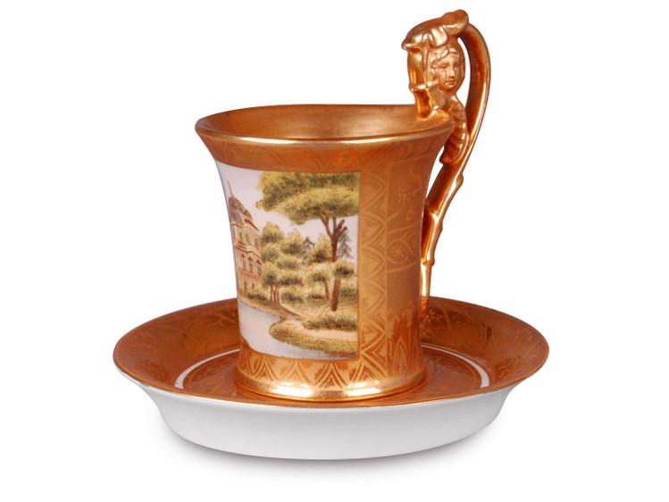 Чайный набор фарфоровая чашка с блюдцем Lefard Усадьба на 2 предмета 93-097 фарфор