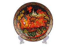 Декоративная тарелка Lefard Зима 15 см 85-1121 настенная керамическая декор на стену