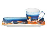 Чашка кофейная 75 мл с блюдцем Gapchinska 2 предм. Утренняя гимнастика Гапчинская 924-195 для кофе