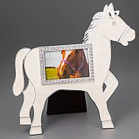 Фоторамка настольная Lefard Лошадка 17х18 см 153N рамка для фото конь лошадь