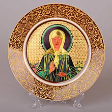 Декоративная тарелка Lefard Святая Матрона 20 см 921-001(3) иконанастенная фарфоровая декор на стену