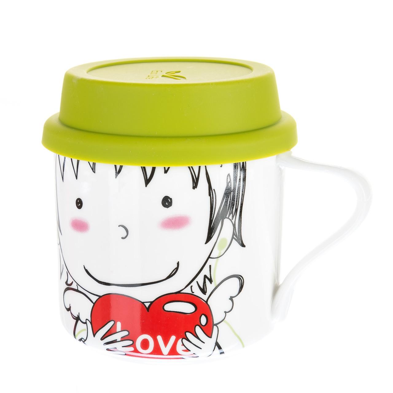 Чашка с мягкой крышкой Unicorn Studio 300 мл 002RA-C кружка