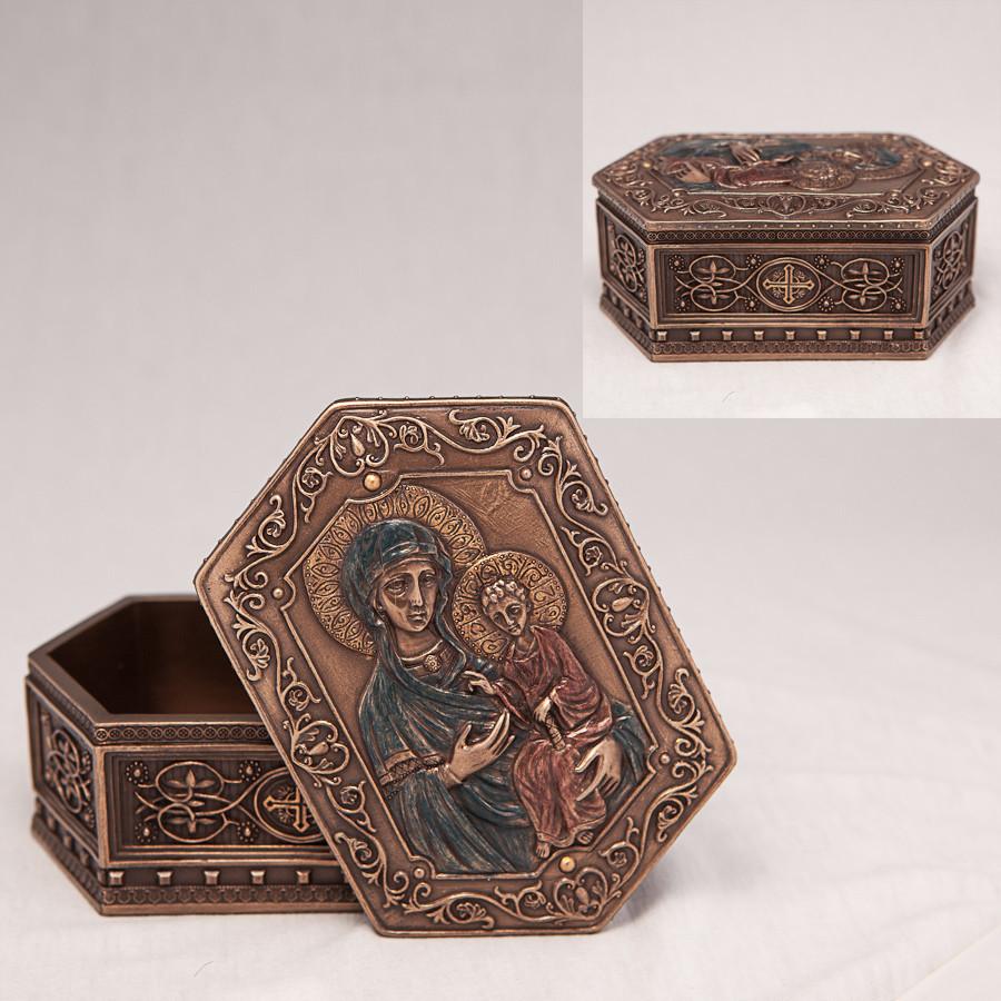 Шкатулка Veronese Дева Мария и Иисус высота 6 см 75937 веронезе библейский сюжет для драгоценностей