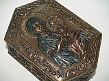 Шкатулка Veronese Дева Мария и Иисус высота 6 см 75937 веронезе библейский сюжет для драгоценностей, фото 2