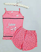 Пижама женская майка и шорты Love
