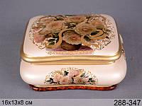 Шкатулка La Vesuvia Berger srl керамика Нежная роза 16 см 288-347 керамическая шкатулка