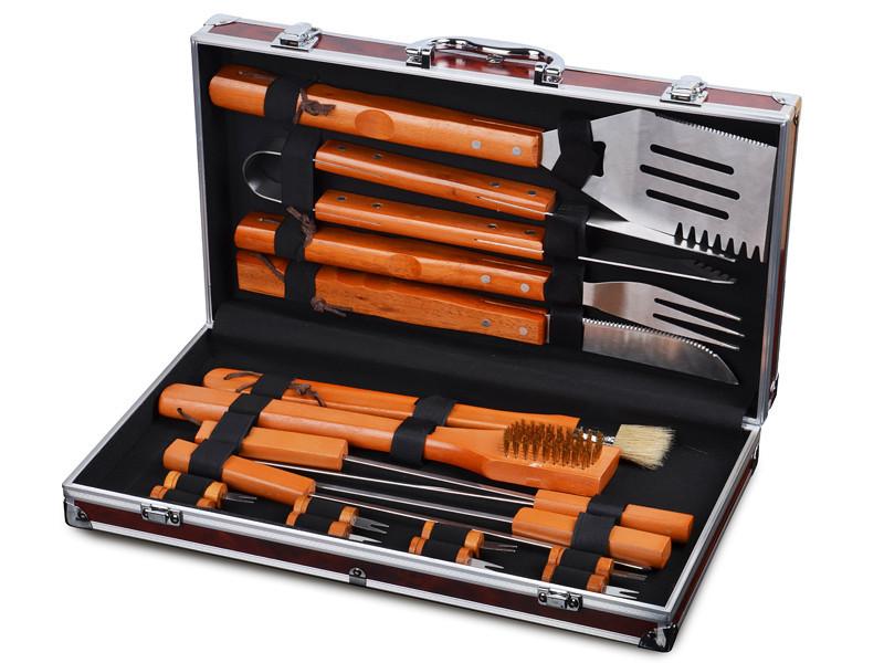 Набор для барбекю Lefard 18 предметов 236-010 приборы инструменты для барбекю в кейсе