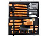 Набор для барбекю Lefard 18 предметов 236-010 приборы инструменты для барбекю в кейсе, фото 2