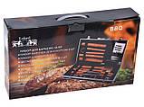 Набор для барбекю Lefard 18 предметов 236-010 приборы инструменты для барбекю в кейсе, фото 4