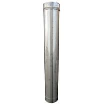 Труба дымоходная D-200 мм S-0,8 мм L-1 метр AISI 321 из нержавеющей стали - «Stalar», фото 2