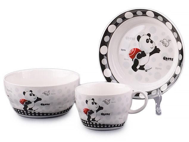 Набор детской посуды Lefard Панда 3 предмета 359-215 детская посуда комплект для кормления ребенка
