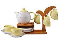 Чайный набор Lefard на бамбуковой подставке 13 предметов 359-035