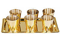 Набор рюмок для водки на подносе Sri Ram 7 пред 878-033