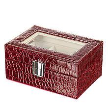 Шкатулка бокс для хранения часов на 3 отдела 16х10х6 см 0630JA органайзер для часов