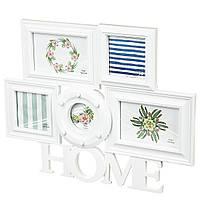 Фотоколлаж Home Lefard 38х47 см 203I/white мультирамка настенная рамка для фото коллаж