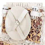 Корзина для пикника Lefard на 2 персоны 43х30х20 см 009PPN сумка для пикника с посудой лоза из лозы, фото 3