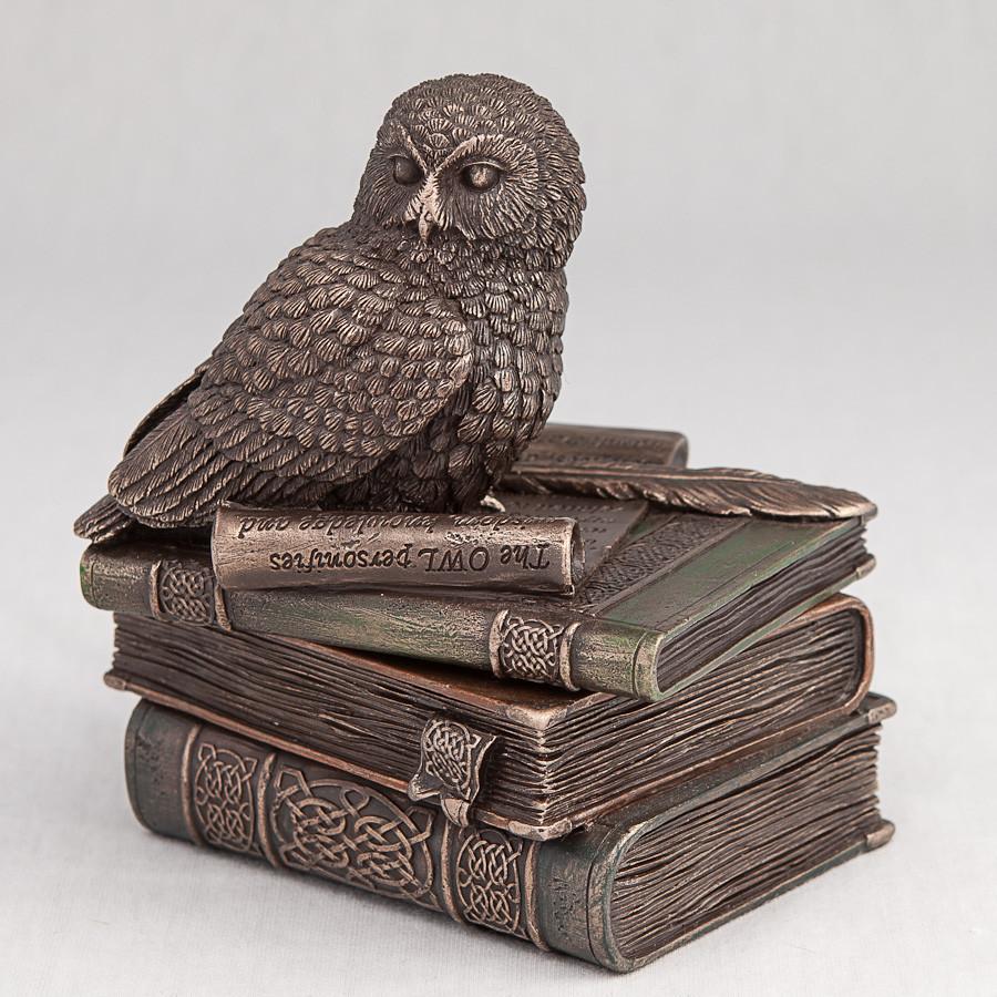 Шкатулка Veronese Сова 12 см 75510 статуэтка совы веронезе с книгами на книгах