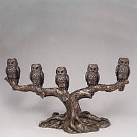 Подсвечник Veronese Сова 40 х 23 см 76415 статуэтка совы на ветке на дереве