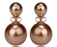 Серьги шарики Dior золото код 686