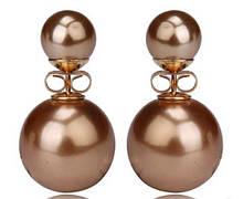 Сережки кульки Dior золото код 686