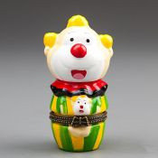 Шкатулка Весёлый клоун фарфоровая оригинальная шкатулочка в виде клоуна фарфор