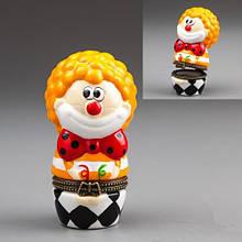 Шкатулка Клоун фарфоровая оригинальная шкатулочка в виде клоуна фарфор