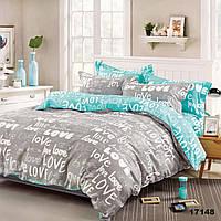Комплект двуспального постельного белья Viluta с натуральной ткани ранфорс