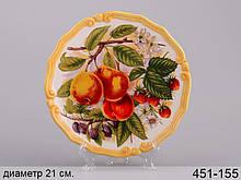 Декоративная тарелка Груши 21 см 451-155 настенная керамическая декор на стену фрукты
