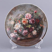 Декоративная тарелка Adekor Цветы 19 см 662-575 настенная керамическая декор на стену