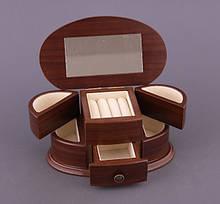 Шкатулка трансформер раскладная для ювелирных украшений комодик для прикрас Lefard 21х12х10 186-089