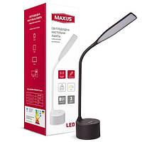 Настольная умная лампа MAXUS DKL 8W (звук, USB, димминг, температура) черная 1-MAX-DKL-002-04