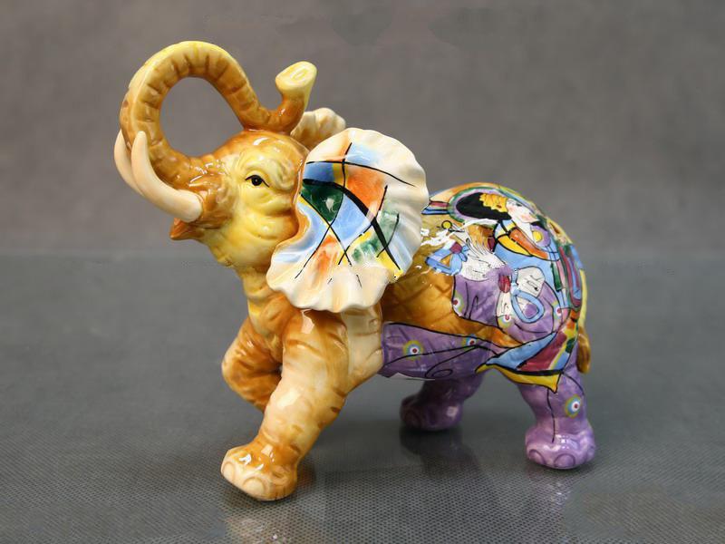 Статуэтка Слон 15 см керамика 59-087