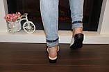Шлепанцы сабо женские бежевые натуральная кожа на небольшом каблуке Б250, фото 4