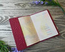 Обложка на паспорт розовые восточные узоры (глянцевая), фото 3