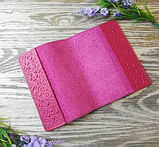Обложка на паспорт розовые восточные узоры (глянцевая), фото 2