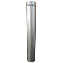 Труба дымоходная D-130 мм S-0,8 мм L-1 метр AISI 321 из нержавеющей стали - «Stalar», фото 3