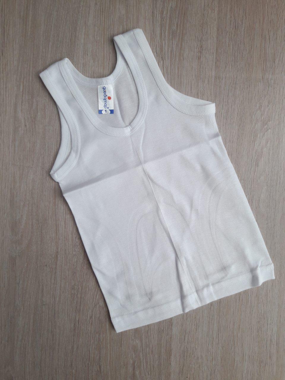 Детская майка  1-4 на мальчика, белая   09-1646