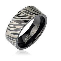 Кольцо зебра Spikes, фото 1