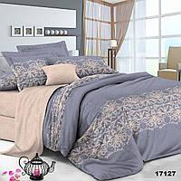 Серый комплект двуспального постельного белья Viluta с ранфорса
