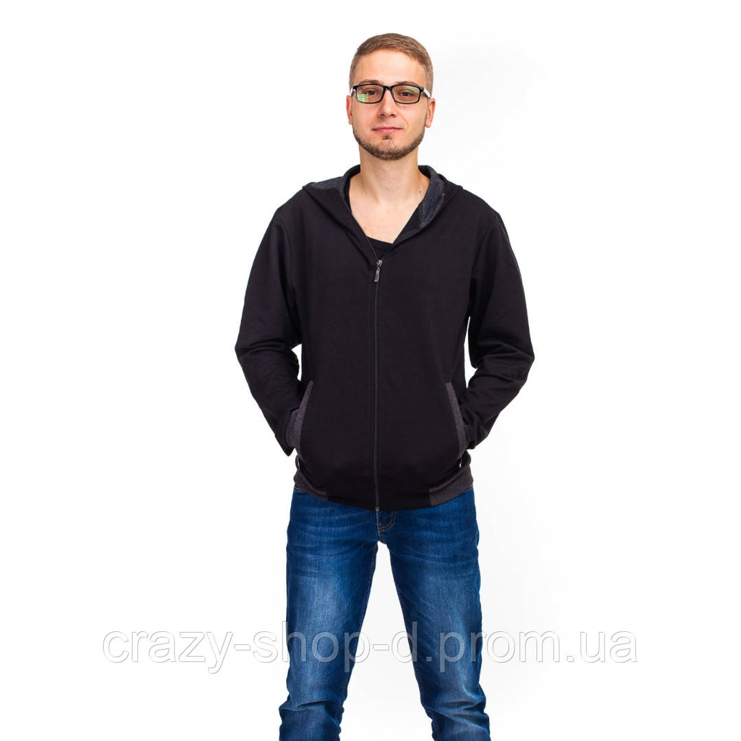 Мужская кофта черная