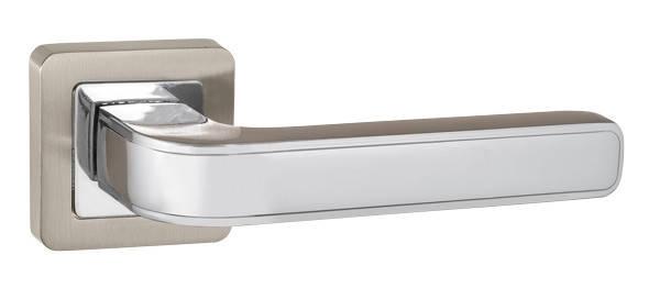 Ручка раздельная Punto (Пунто) NOVA QR SN/CP-3 матовый никель/хром, фото 2